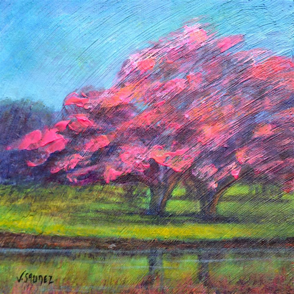 """Spring"" original fine art by Véronique Saudez"