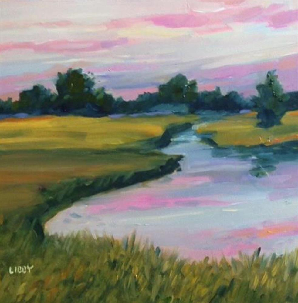 """Pink Sky"" original fine art by Libby Anderson"