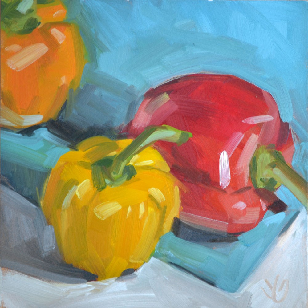 """Peppers"" original fine art by Jessica Green"