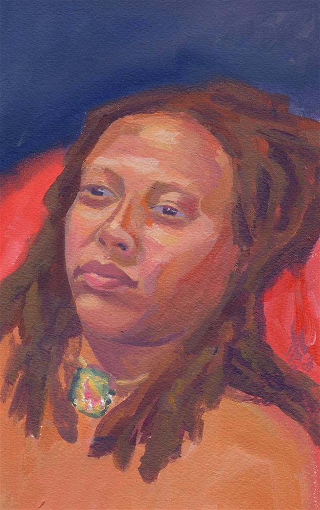 """""""Nikki"""" original fine art by Mark Allison"""