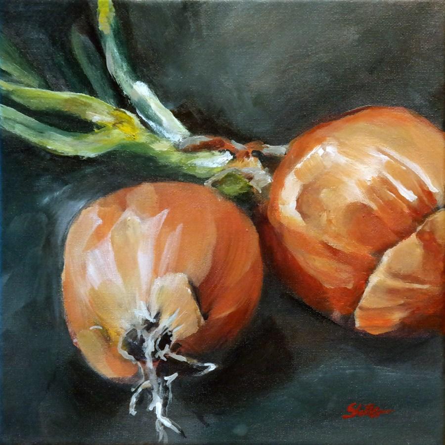 """""""1715 Onion Dialogue"""" original fine art by Dietmar Stiller"""
