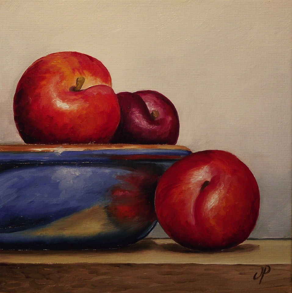 """Plum bowl"" original fine art by Jane Palmer"