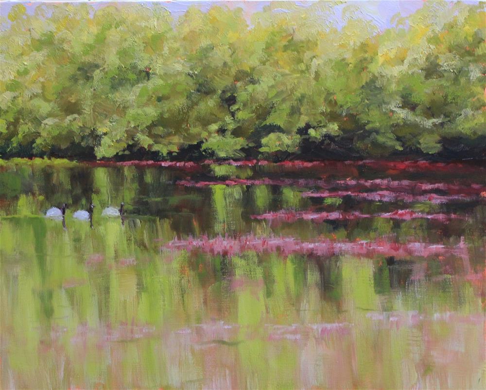 """Glenshire Pond"" original fine art by Marcy Mignone"