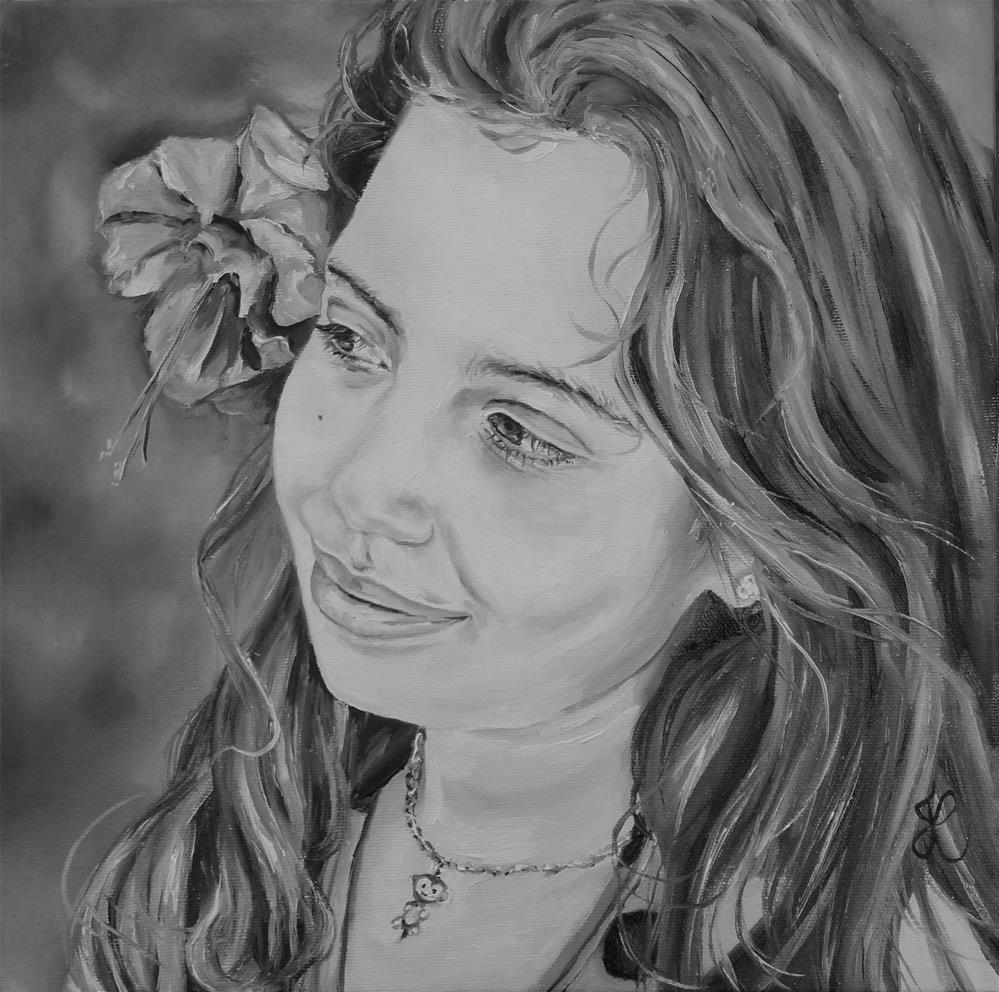 """Grand child #3"" original fine art by Jacinthe Rivard"
