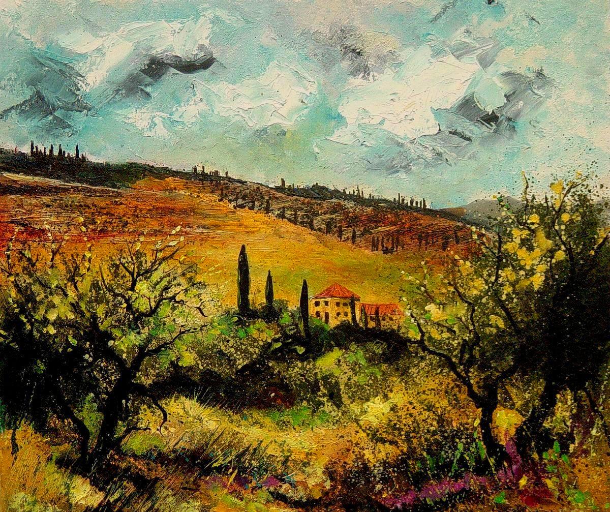 """tuscany 3"" original fine art by Pol Ledent"