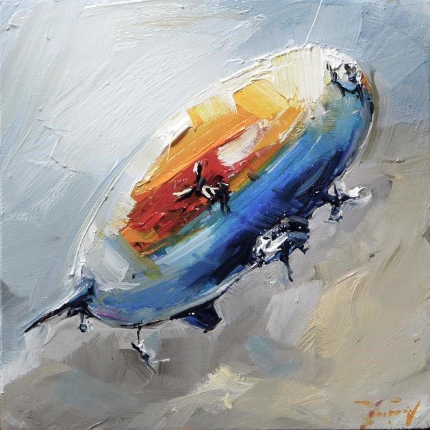 """Zeppelin"" original fine art by Jurij Frey"