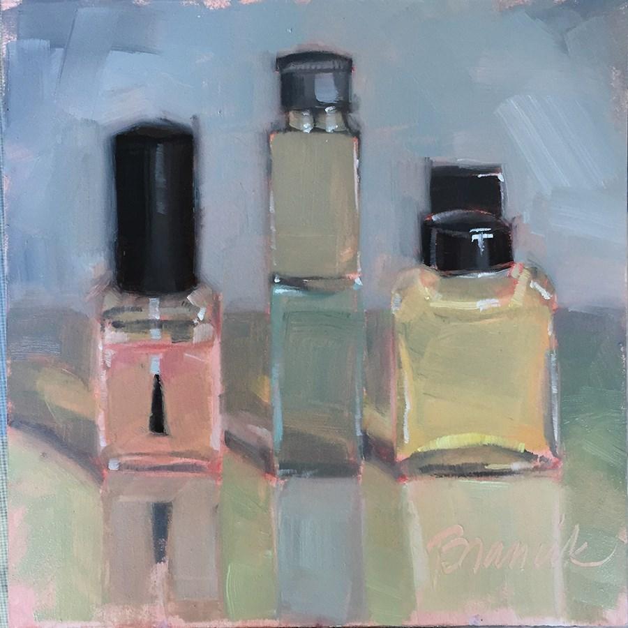 """Pastel Toiletries"" original fine art by Candace Brancik"