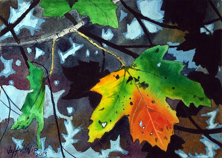 """Maple Leaf"" original fine art by Jeff Atnip"