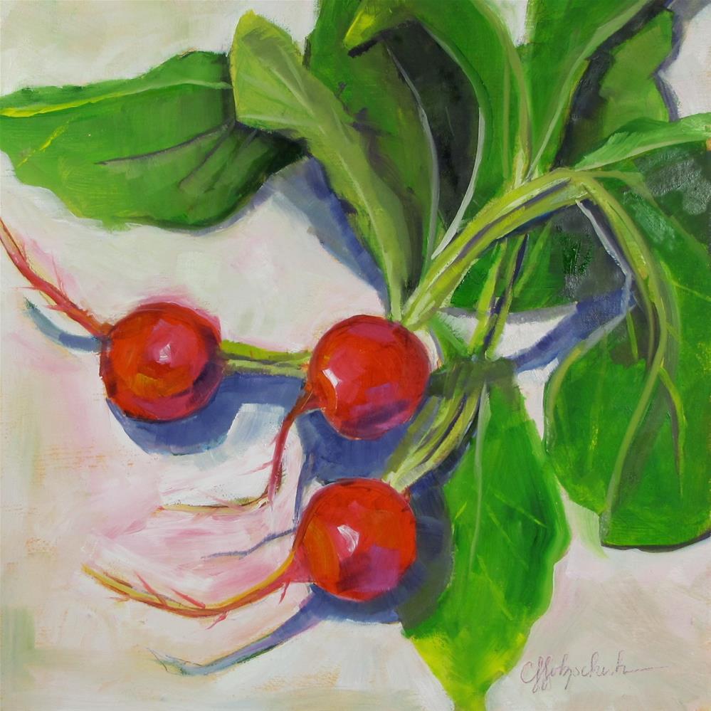 """Big Radishes"" original fine art by Christine Holzschuh"