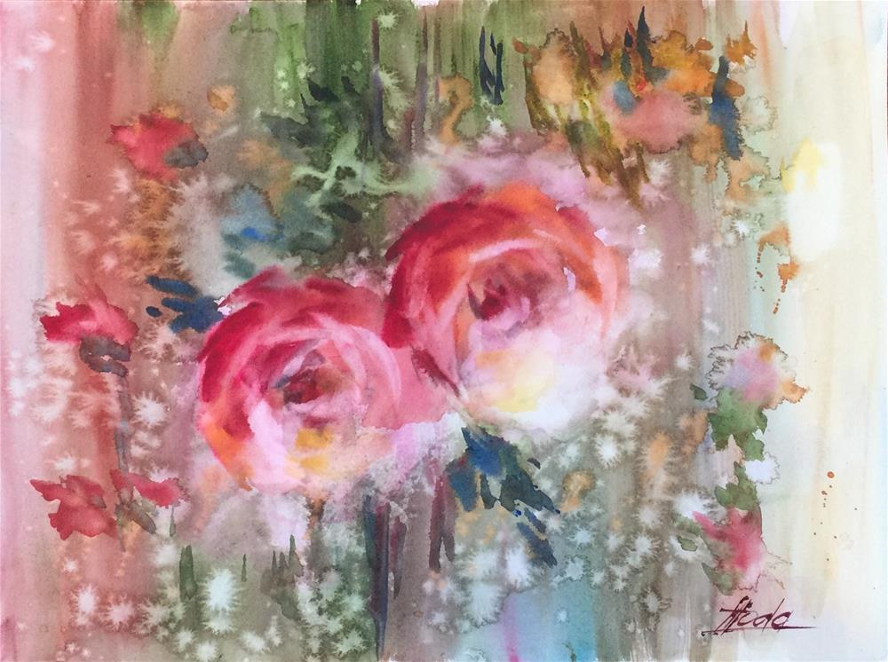 """""""Rose"""" original fine art by Hoda Nicholas"""