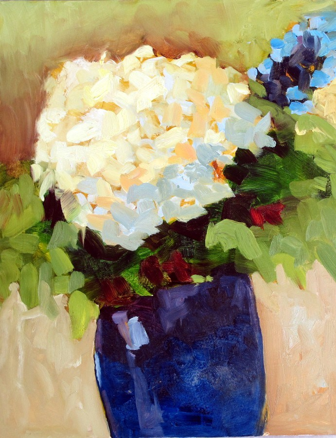 """Hydrangea Impression 12115"" original fine art by Nancy Standlee"