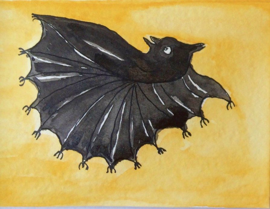 """Drive Me Batty"" original fine art by Susan Medyn"