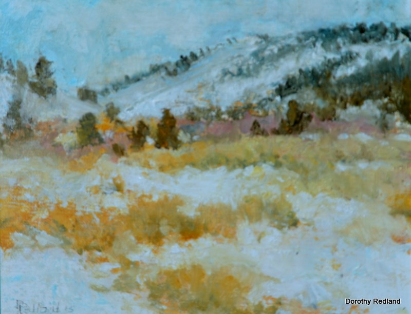"""Winter on Green mountain"" original fine art by Dorothy Redland"