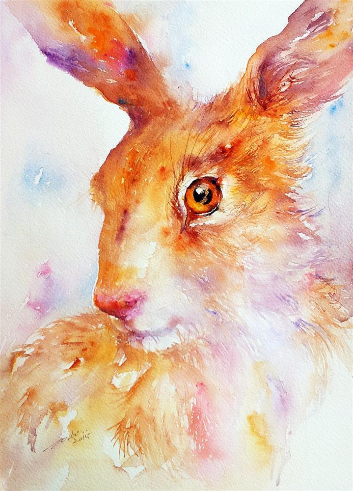 """Sienna Hare II"" original fine art by Arti Chauhan"