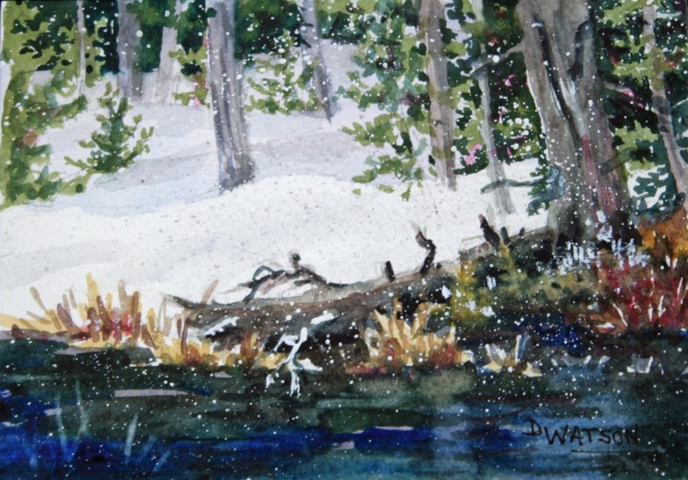 """Early Winter Yellowstone"" original fine art by Deb Watson"