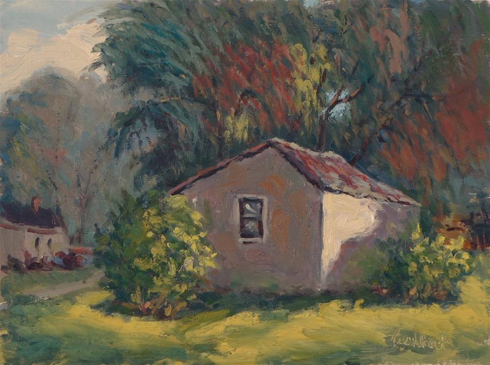 """Evan's House Building"" original fine art by Daniel Fishback"