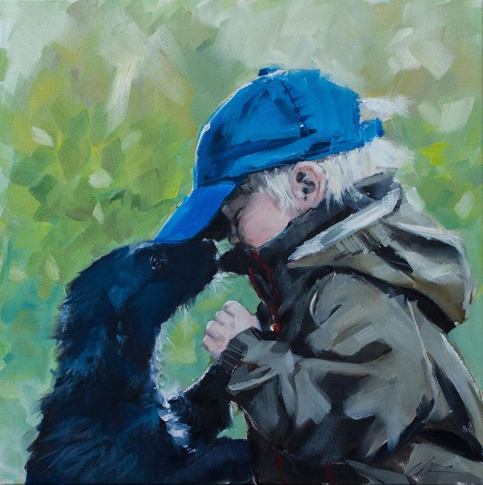 """New Friend"" original fine art by Clair Hartmann"