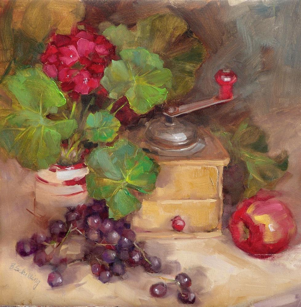 """The Coffee Grinder"" original fine art by Barbara Schilling"