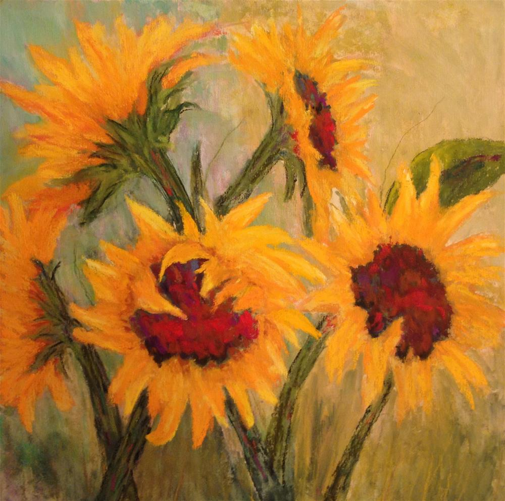 """Sunflowers"" original fine art by Angeli Petrocco Coover"