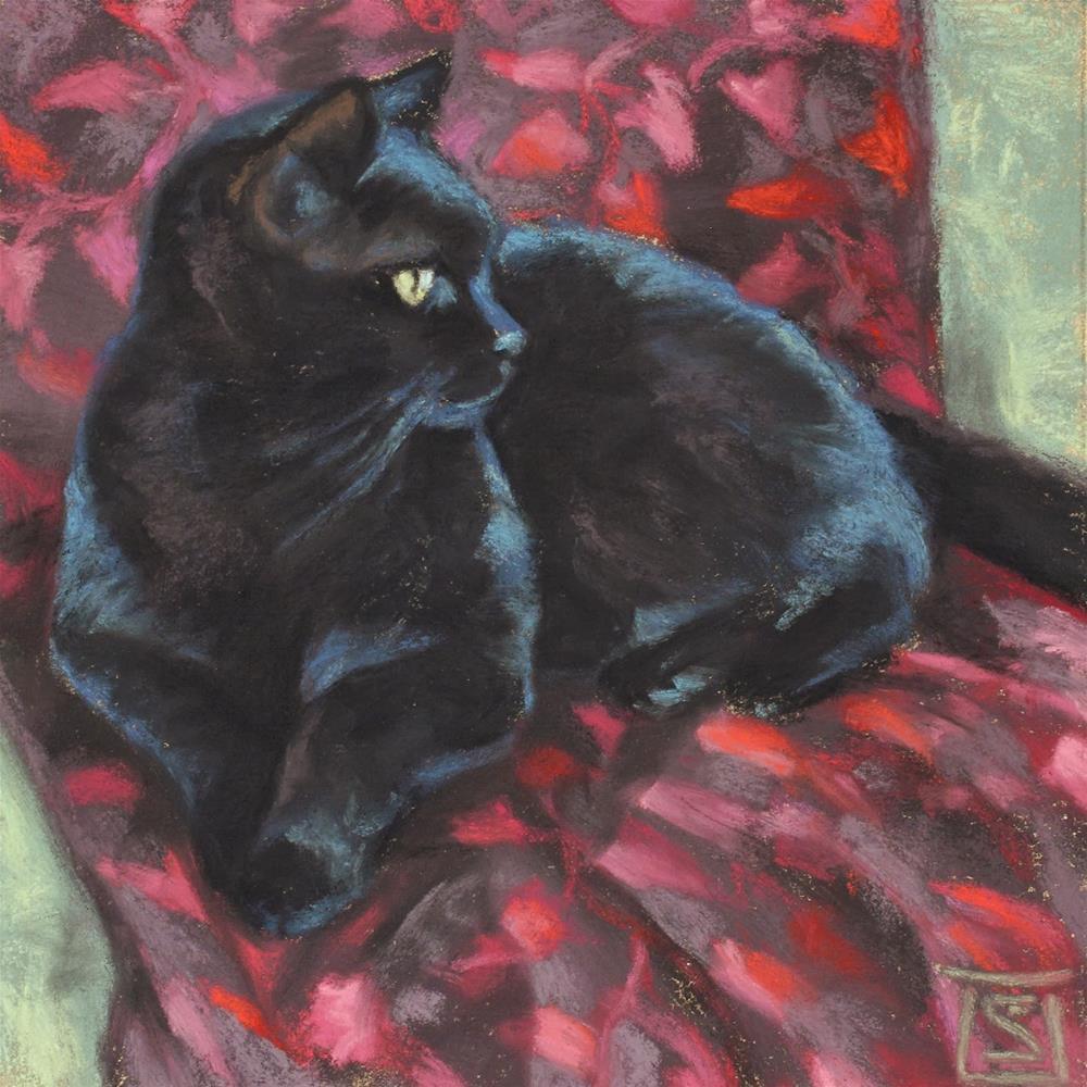 """Pink Lily"" original fine art by Sheila Evans"