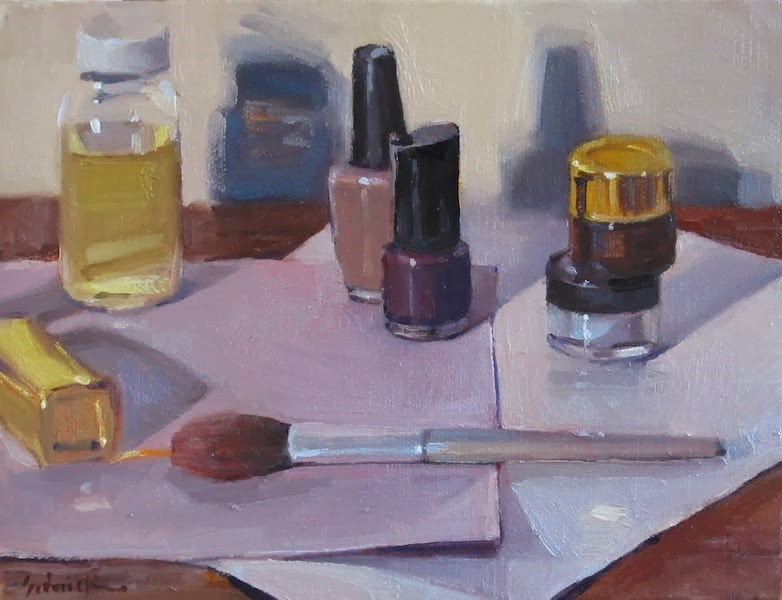 """Makeup"" original fine art by Sarah Sedwick"