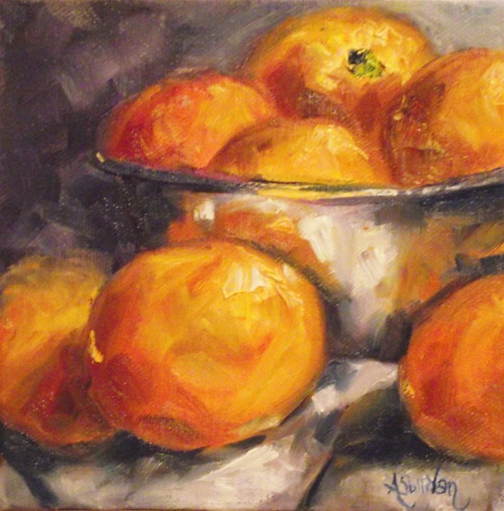 """""""Orange Business by Angela Sullivan"""" original fine art by Angela Sullivan"""