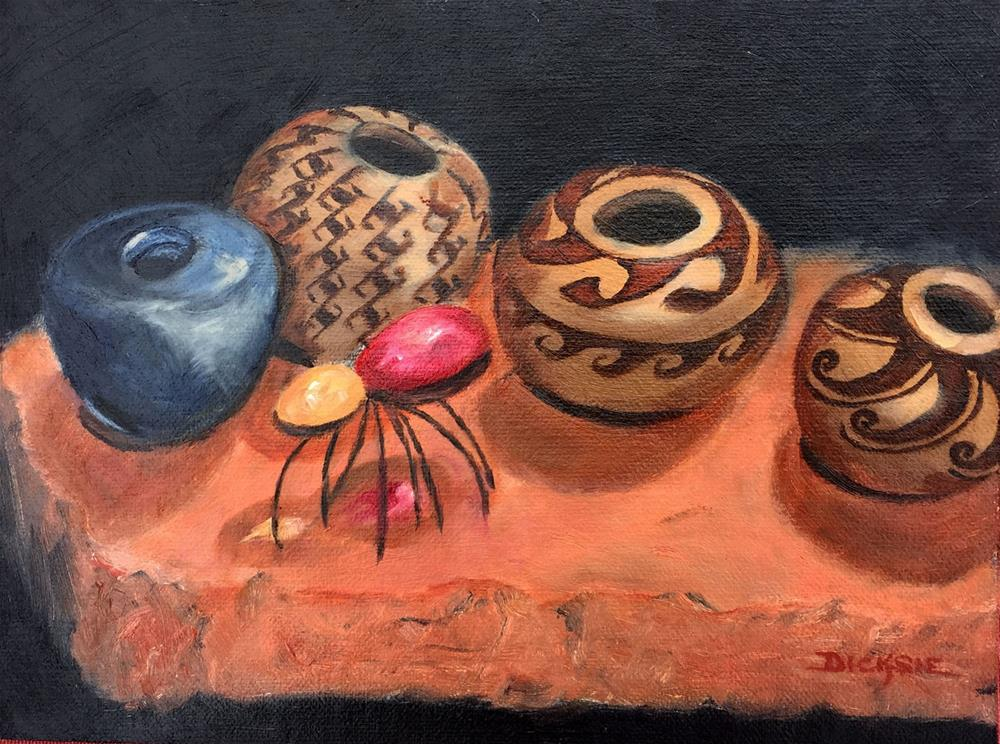 """Steve's Pots"" original fine art by Dicksie McDaniel"