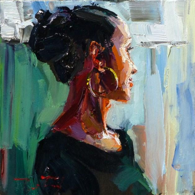 """Lena"" original fine art by Jurij Frey"