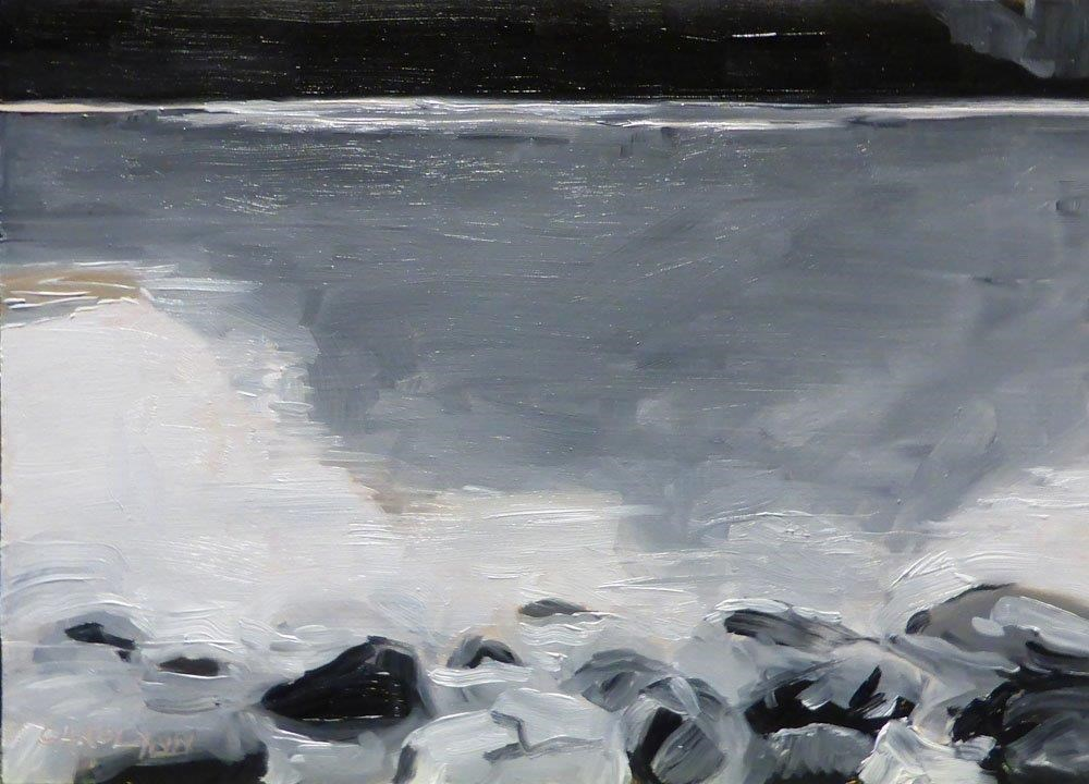 """Grey Scale, Lake Louise"" original fine art by Carolynn Doan"
