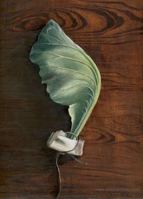 """Cabbage and Wood"" original fine art by Ester Wilson"