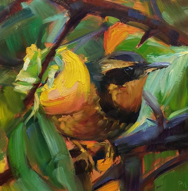 """Persimmon Cafe"" original fine art by Patti McNutt"