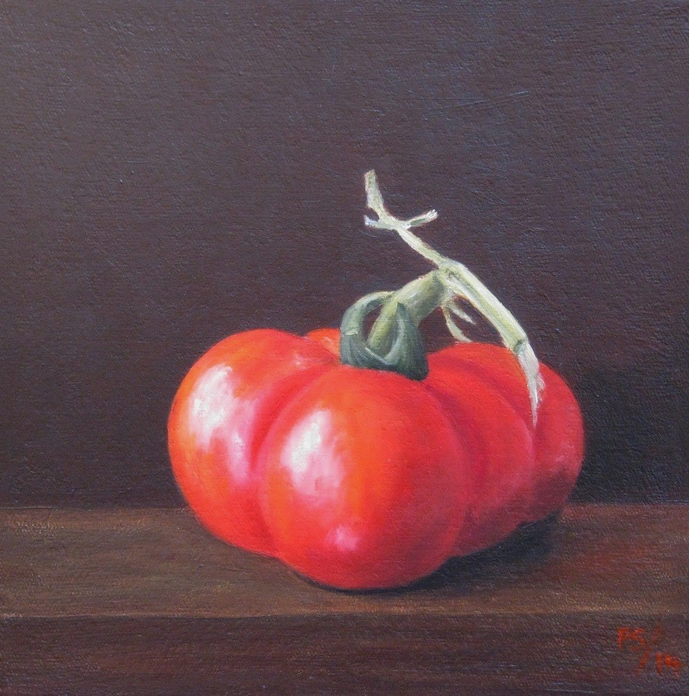 """Heirloom Tomato"" original fine art by Pera Schillings"