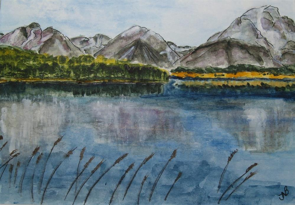 """Jenny Lake 6 x 9 NFS"" original fine art by Nancy Beard"
