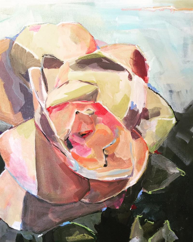 """516 Seattle Rose"" original fine art by Jenny Doh"