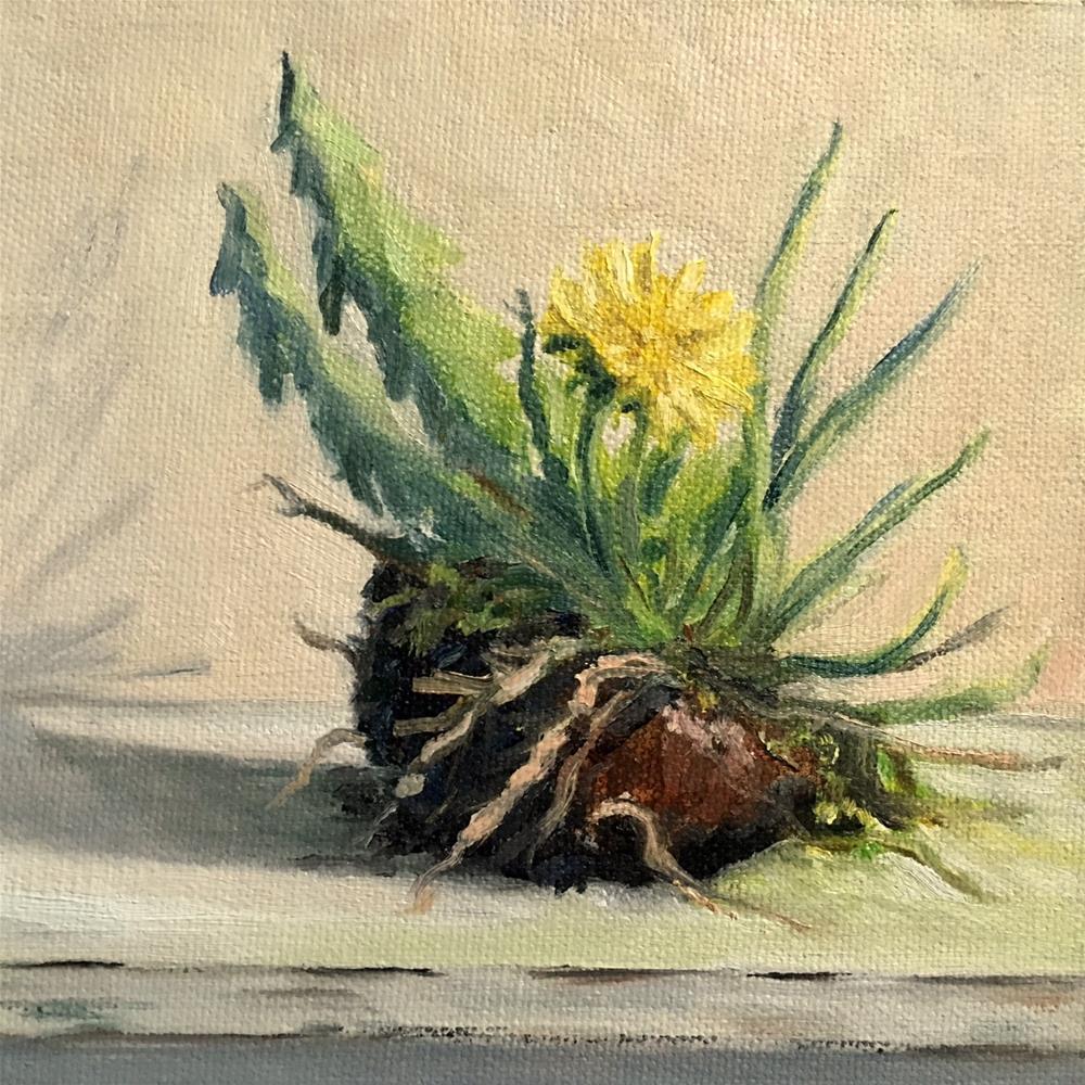 """""""Dandelion"""" original fine art by Judith Anderson"""