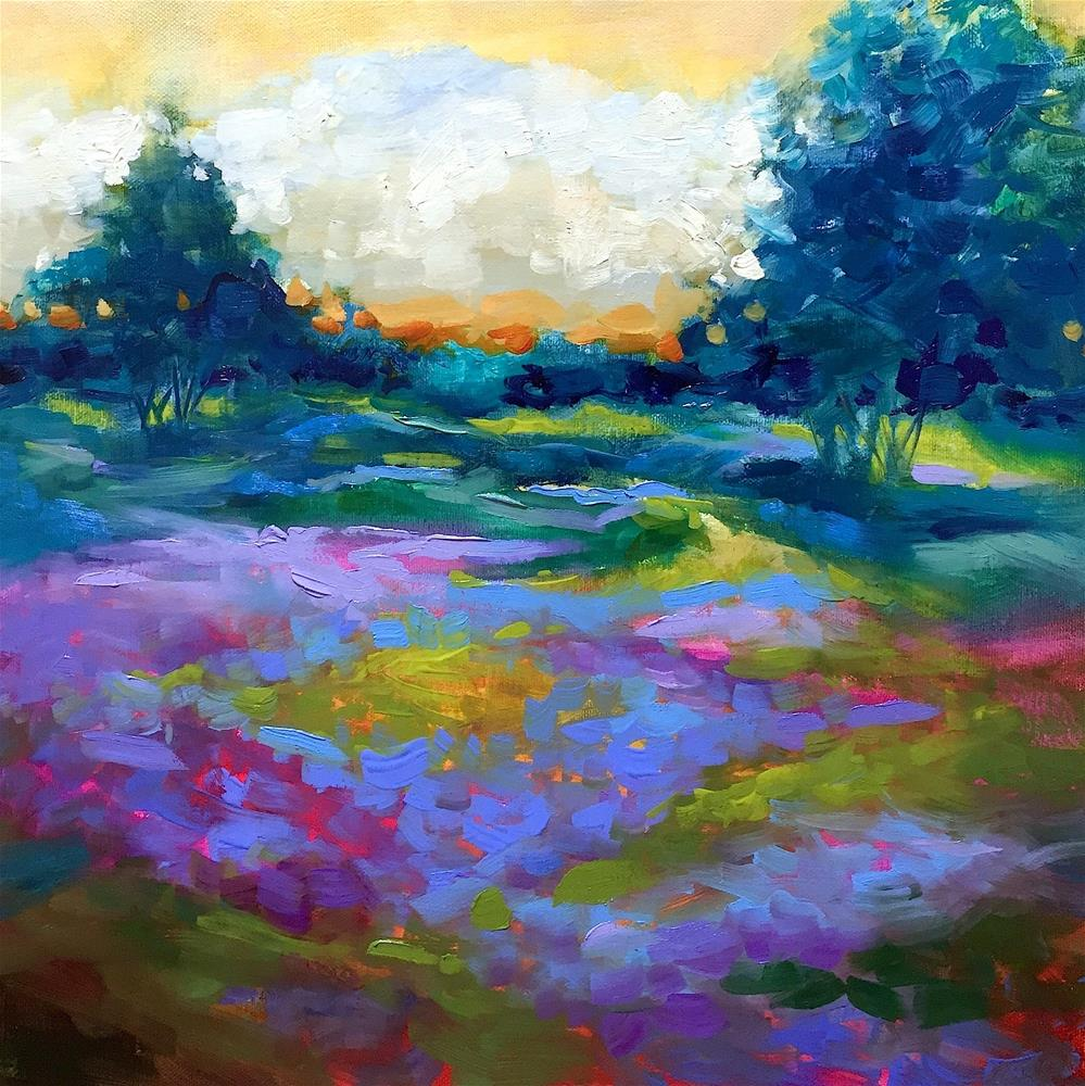 """Green Meadow Lavender Farm"" original fine art by Nancy Medina"