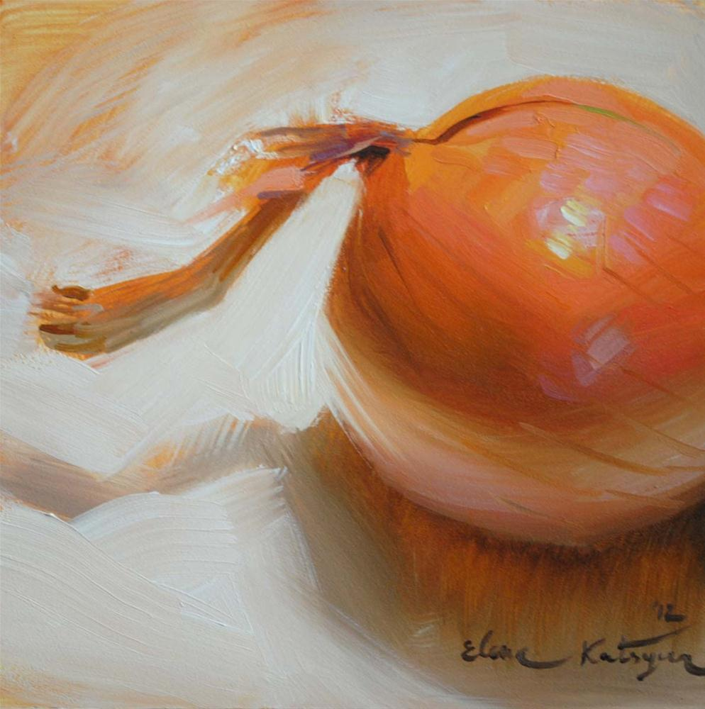 """An Onion"" original fine art by Elena Katsyura"
