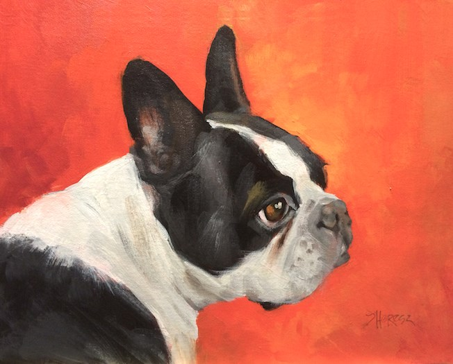 """Portrait of Dungee"" original fine art by Theresa Taylor Bayer"