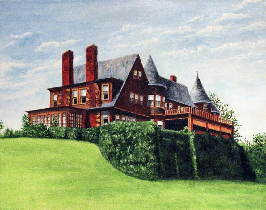 """The Mansion"" original fine art by Nan Johnson"