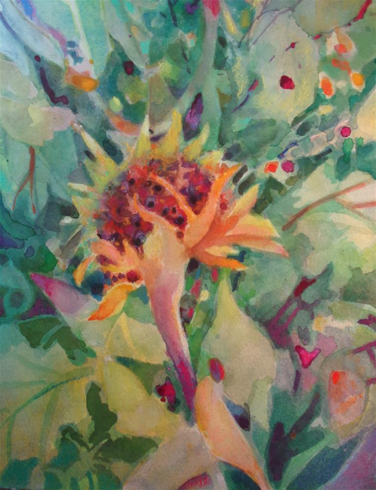 """sunflower"" original fine art by meribeth coyne"