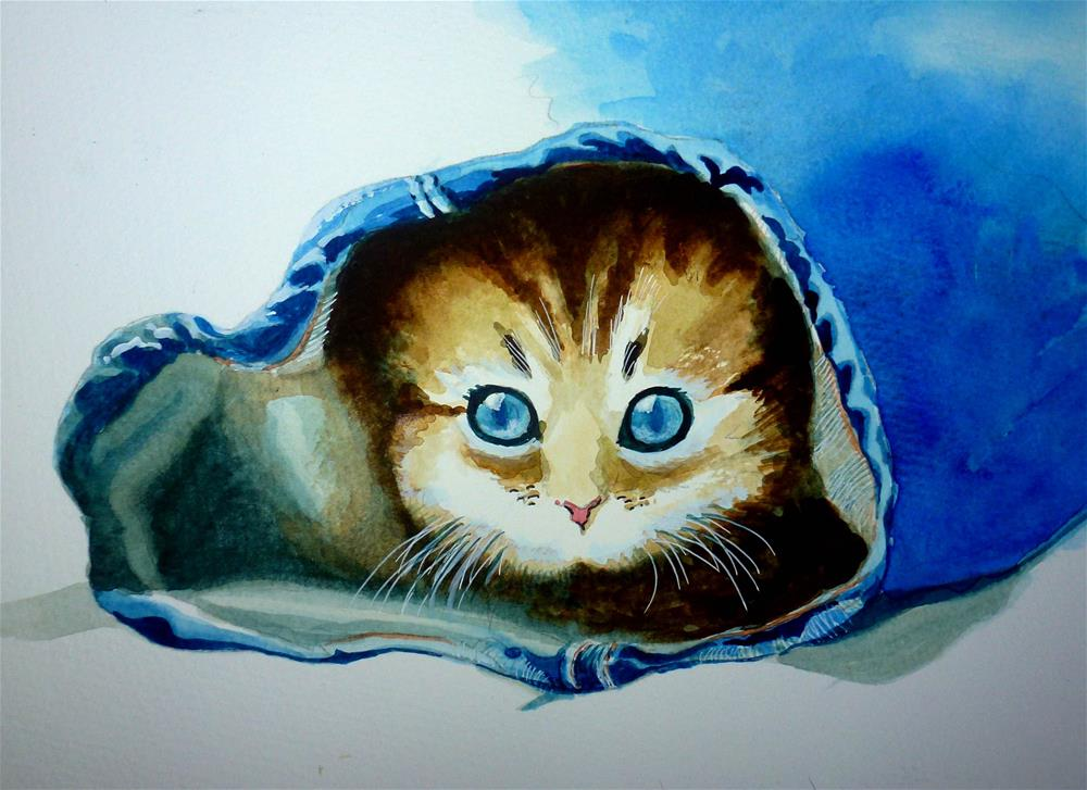 """Kitten"" original fine art by John Monney"