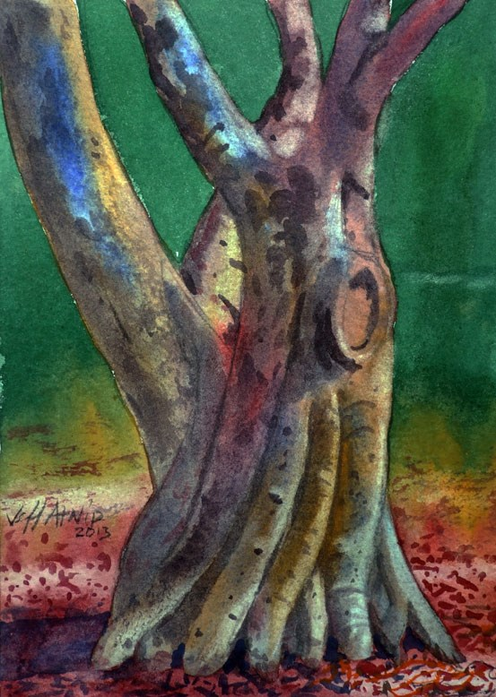 """Gnarled"" original fine art by Jeff Atnip"