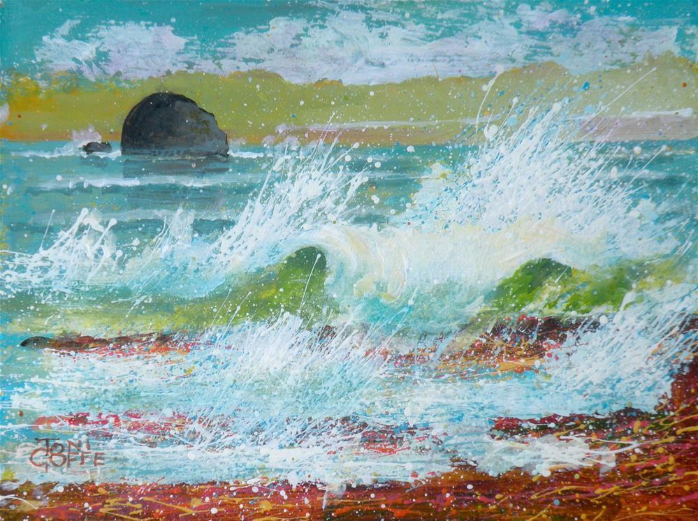"""""""Gull Island"""" original fine art by Toni Goffe"""