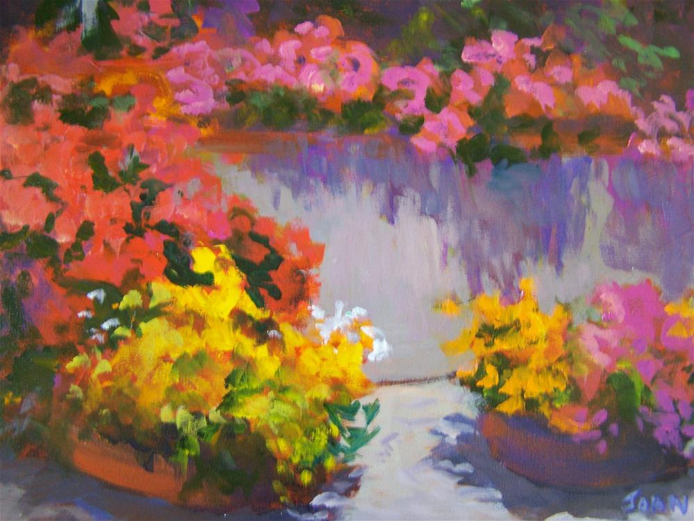 """Garden Wall"" original fine art by Joan Reive"