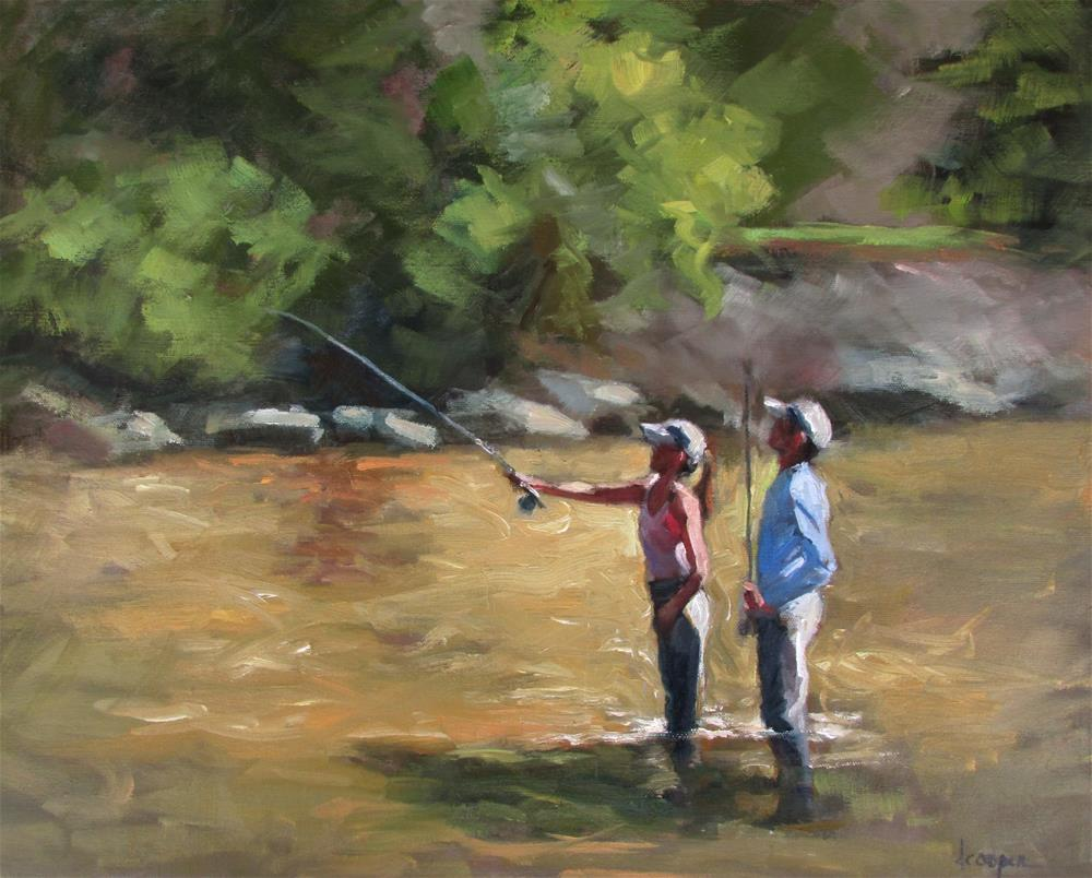 """First Cast"" original fine art by Dana Cooper"