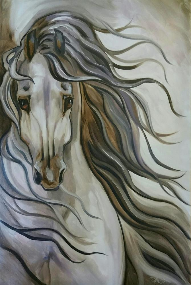 """Wind"" original fine art by Leni Tarleton"