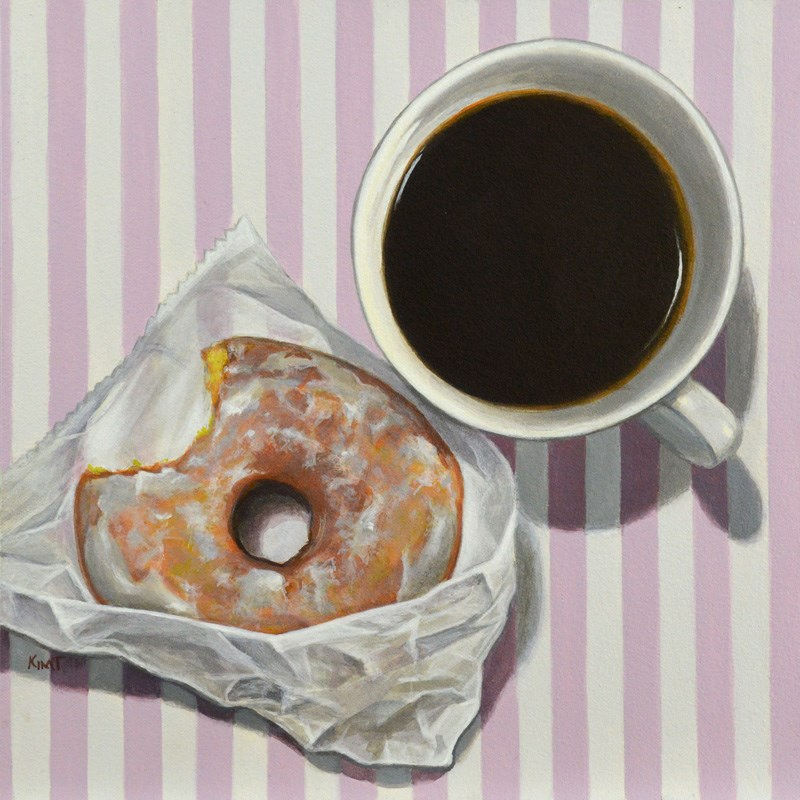 """Coffee and a Donut"" original fine art by Kim Testone"