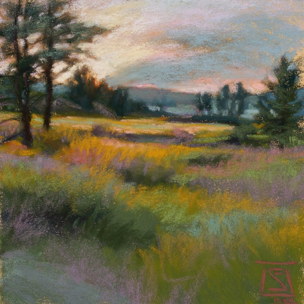 """Pink Horizon"" original fine art by Sheila Evans"
