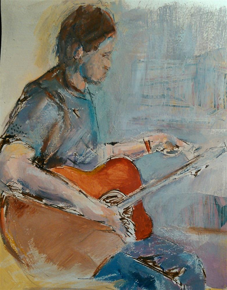 """Tuning"" original fine art by Ann Rudd"