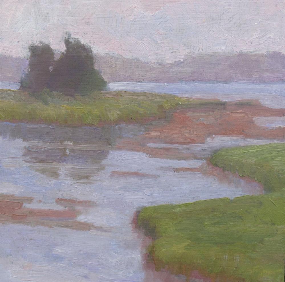 """Marsh at Twilight"" original fine art by Eden Compton"